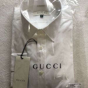 Gucci white buttom up shirt